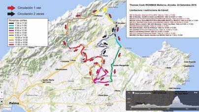 El IronMan del día 24 provocará cortes y restricciones de tráfico en 12 municipios de Mallorca