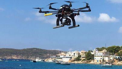 Andratx utiliza drones para estudiar las corrientes marinas de Sant Elm