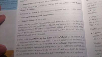 Ciudadanos exige la retirada del manual de Lengua catalana