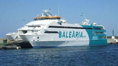 Baleària aumenta de 2 a 3 los trayectos diarios entre Alcúdia y Ciutadella
