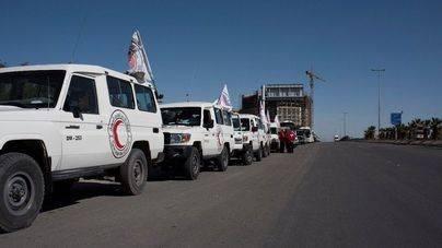 Bombardeado un convoy humanitario de la ONU en Alepo