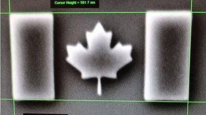 La bandera más pequeña del mundo es de Canadá y no se ve sin microscopio