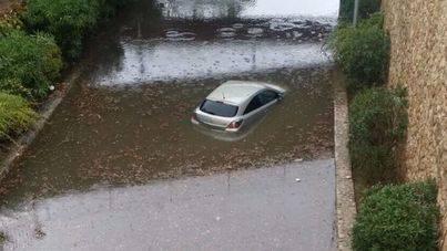 La lluvia irrumpe con fuerza en Mallorca