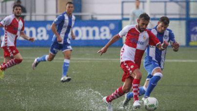 El Atlètic Balears empata bajo la lluvia