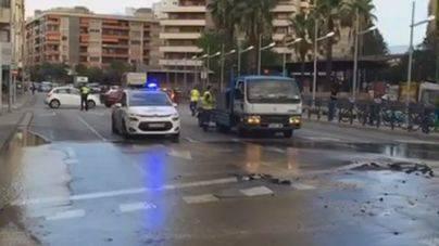 Desvíos de tráfico en Es Fortí por la rotura de una tubería