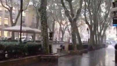 La tormenta coge a Palma por sorpresa