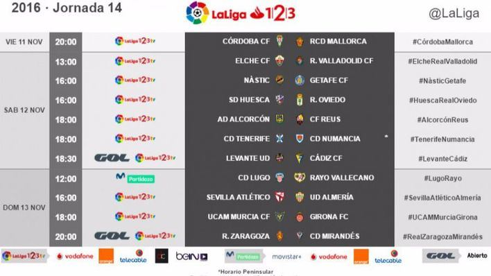 El partido entre Córdoba y Mallorca de la 14ª jornada se jugará el viernes 11 de noviembre