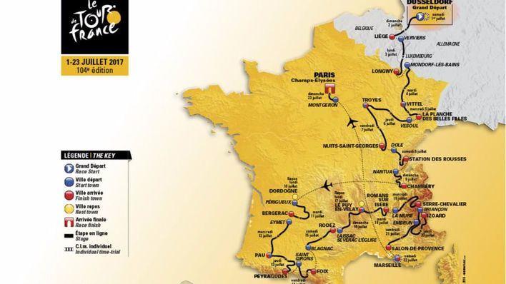 Novedoso recorrido para el Tour 2017