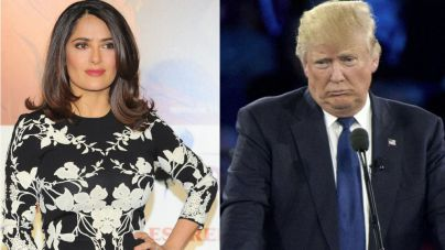 Salma Hayek se negó a salir con Trump y éste encargó una noticia falsa de ella