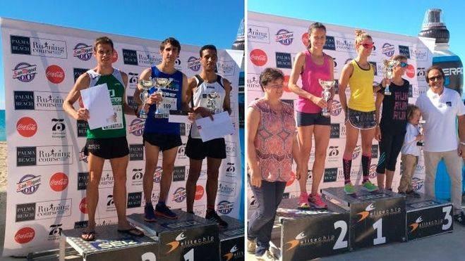 José Luis García y Leonor Font se coronan en la I Running Course 10 Km Palma Beach