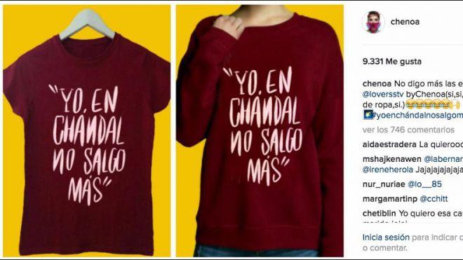 La nueva camiseta de Chenoa: