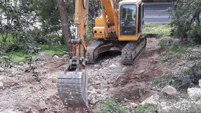 Calvià ejecuta las obras para evitar inundaciones en Illetes