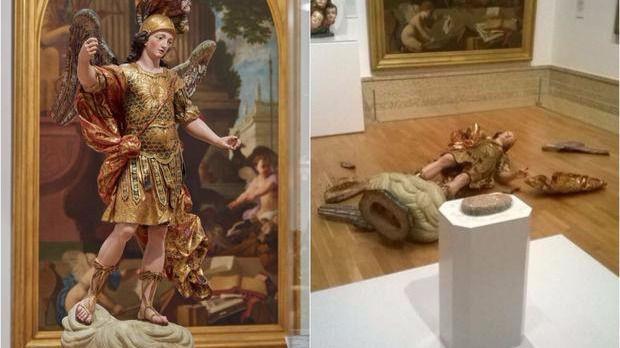Un turista destroza una escultura del siglo XVIII al hacerse un selfie