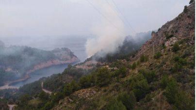 Las llamas queman 8'6 hectáreas en Cala Tuent