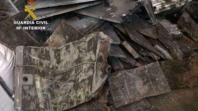 Tres detenidos por robar 1.100 kilos de radiadores de cobre en Lloseta