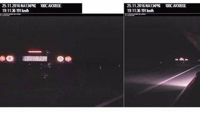 'Cazada' una conductora que circulaba a 191 km/h