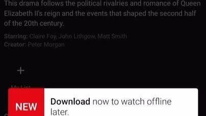 Netflix ya permite descargar series y películas
