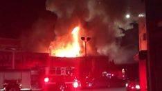 Imagen del incendio en Oackland