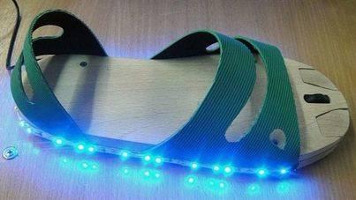 Imagen del ratón-sandalia creado por un estudiante de secundaria ruso