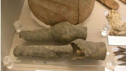 Las piernas de Nefertari aparecen en un museo italiano