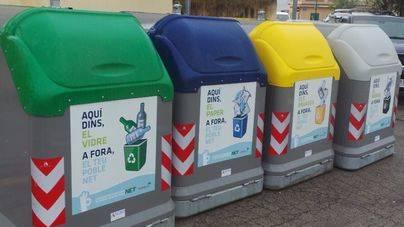 Imagen de los contenedores de reciclaje del municipio