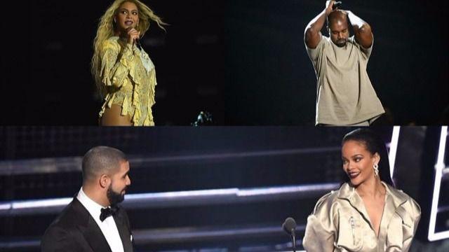 Beyoncé, Drake, Rihanna y Kanye West, favoritos en los Grammy