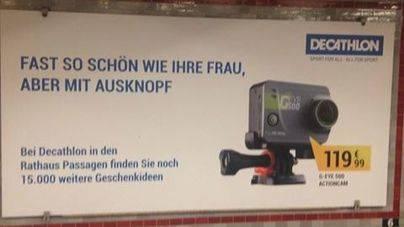 Decathlon desata la polémica en Alemania por un anuncio sexista