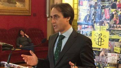 El diputado del PP Álvaro Gijón, en el Parlament