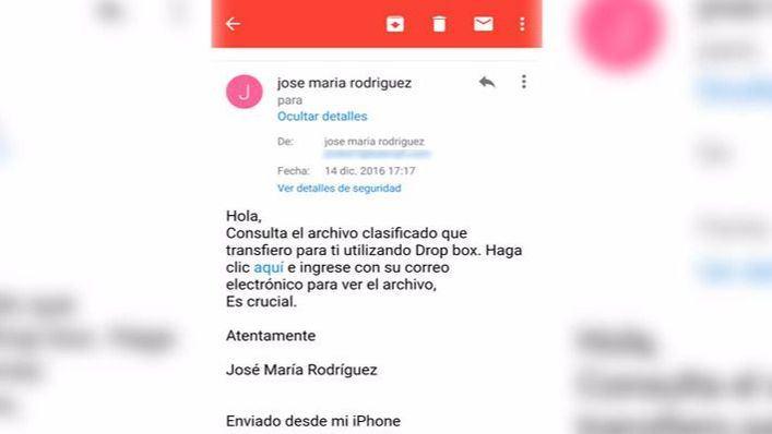 Rodríguez denuncia que le han hackeado el correo electrónico