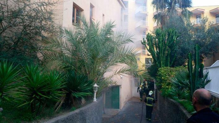 Incendio en un hotel de Peguera