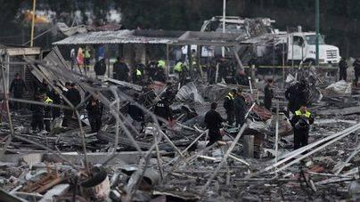 31 muertos por las explosiones en un mercado de pirotecnia de México