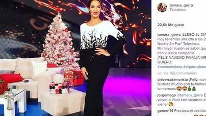 Tamara Gorro y su impresionante vestido de Nochebuena