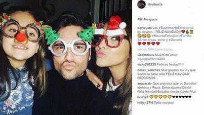 Paula Echevarría y David Bustamante felicitan la Navidad