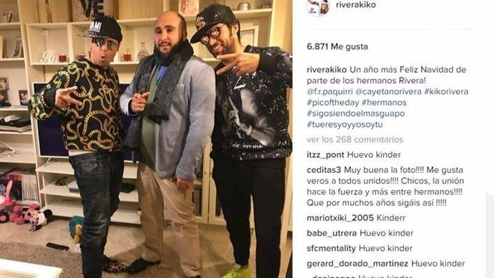 Kiko Rivera, Francisco y Cayetano se divierten durante las fiestas