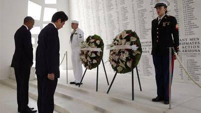 Abe y Obama se reúnen en una visita simbólica a Pearl Harbor