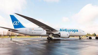 Imagen del nuevo B787 de Air Europa