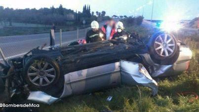 Muere un hombre de 53 años al perder el control de su coche en la carretera de Inca