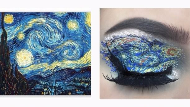 Esta chica pinta obras de arte con maquillaje de ojos