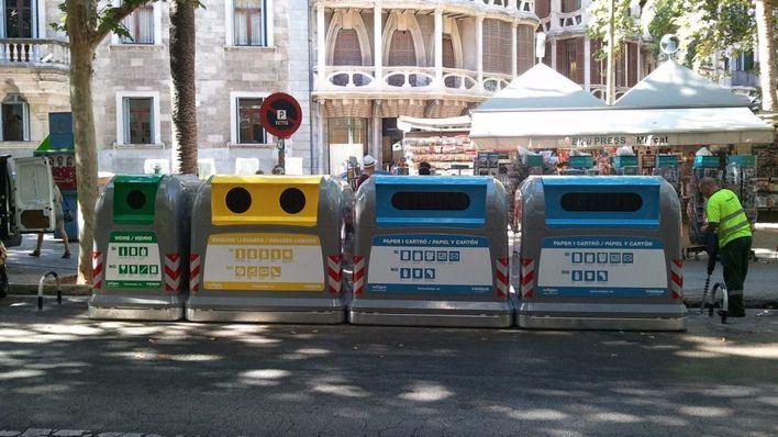 La recogida selectiva en Palma supera por primera vez el 18% del total de la basura