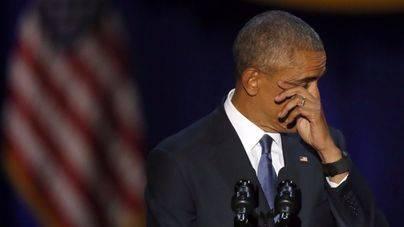Obama se despide de la Casa Blanca con un emotivo discurso