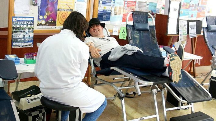 Imagen de un donante de sangre