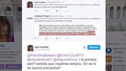 Huertas reclama a Podem que aplique su código ético ante la imputación de Maicas