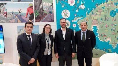 Kemel Kharbachi, Valentín Fernández y el alcalde de Palma, José Hila