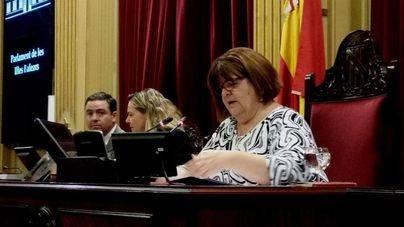 Imagen de la presidenta del Parlament, Xelo Huertas