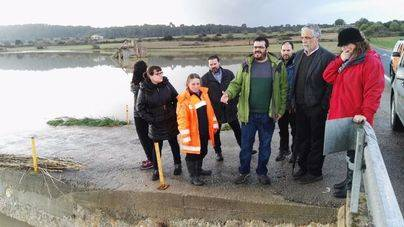 El conseller visitó este domingo algunos municipios afectados por las inundaciones