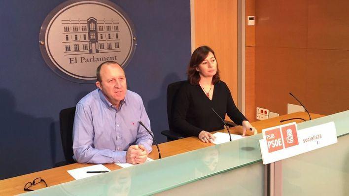 Andreu Alcover y Francina Armengol han comparecido en el Parlament