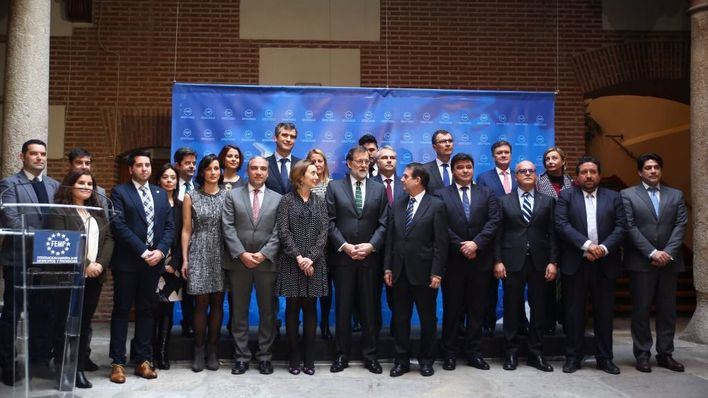 Rajoy en el homenaje a Barberá.