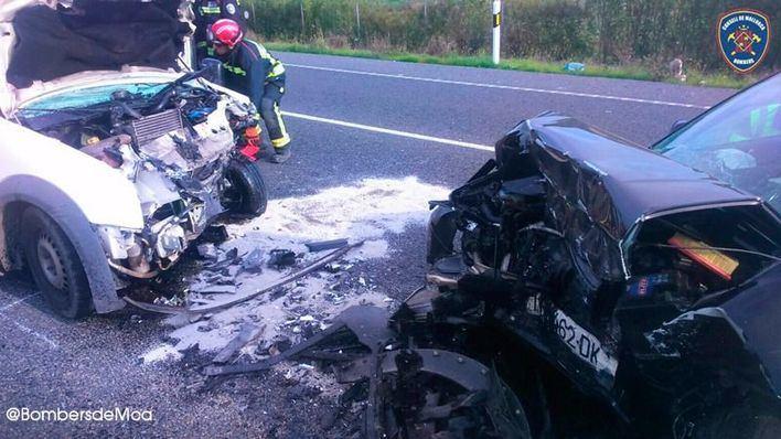 Dos heridos en un choque frontal en la carretera de Alcúdia