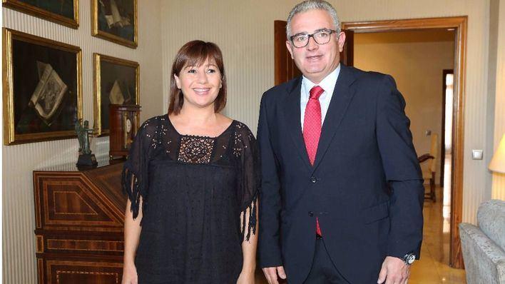 La presidenta y el líder de Proposta per les Illes, en una imagen de archivo