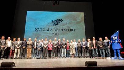 La Gala de l'Esport reconoce a 131 jóvenes deportistas